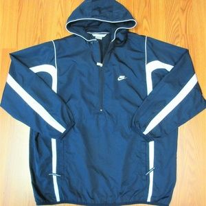 VTG 2002 NIKE Mens HOODIE WINDBREAKER JACKET NAVY